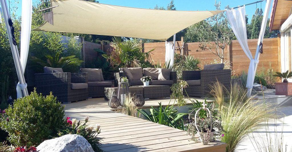 espace terrasse jungle